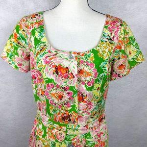 Coldwater Creek Sz 10 Floral Maxi Dress